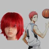 Akashi Seijyuurou Kurokos Basketball Red Short Straight Anime Cosplay wig