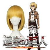 Attack on Titan Armin Arlert Blonde Short Straight Anime Cosplay Wig