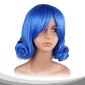 Azure Blue Upturned Short Cosplay Wig