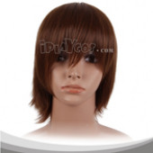 Brownish Black Short Cosplay Wig