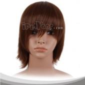 Brownish Black Short Cosplay Wig