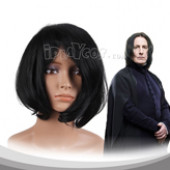 Black Adductive Short Cosplay Wig