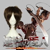 Attack on Titan Eren Jaeger Brown Short Adductive Anime Cosplay Wig