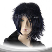 Black Short Shaggy Cosplay Wig