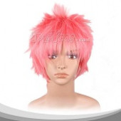 妖精的尾巴 纳兹 亮粉色短发假发