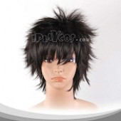 Black Short Spike Cosplay Wig