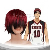 Dark Red And Black Short Adduction And Hair End Alice Cosplay Wig