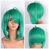 Green Short Straight Anime Cosplay Synthetic Wig