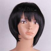 黑色内收短发 高温丝 动漫假发
