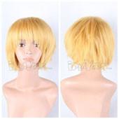 Yellow Short Straight Anime Cosplay Wig