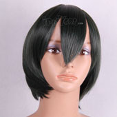 Black Short Adductive Anime Cosplay Wig