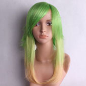 Green Yellow Fusion Short Straight Anime Cosplay Wig