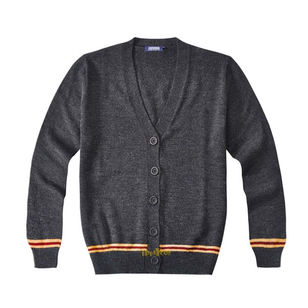 harry potter knitted gryffindor School uniform cardigan