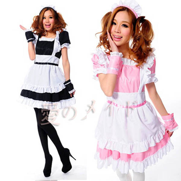 roromiya-karuta-maid-cosplay-lolita-princess-dress-costume-black-pink-apron-dress-set-1