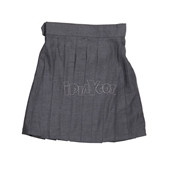 Harry Potter School Uniform Hermione Granger Grey Pleated Wool Skirt