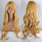 Blonde Long Curly Anime Cosplay Wig