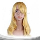 黄色长卷假发