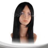 黑色长直假发