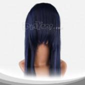 蓝宝石色长直假发