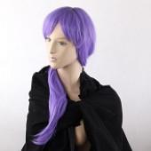 紫色长直假发