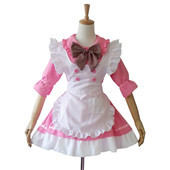 Red and BlCute Princess Maid of The Sweet Multi Color Maid Uniform