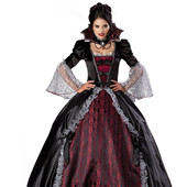 Egypt Queen King Evil Witch Women's Halloween Cosplay Long Dress