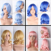 Medium Curly Anime Wig In 4 Different Colors