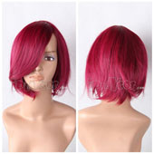Red Short Straight Adductive Anime Cosplay Wig