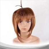 棕色短发假发