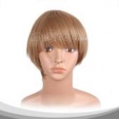 小麦黄短发假发