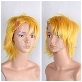 Blonde Short Straight Anime Cosplay Wig Full Wig