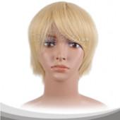 淡黄色短发假发