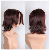 Brown Short Straight Anime Cosplay Wig Full Wig