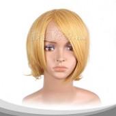 黄色短发(后卷)假发