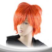 橘红色短假发