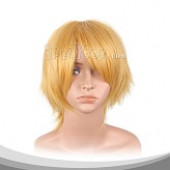 黄色短发假发