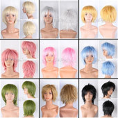 Short Straight Anime Wig In 9 Different Colors