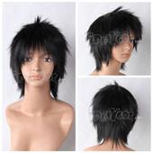 Black Short Straight Anime Cosplay Wig Full Wig