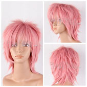 Pink Short Straight Anime Cosplay Synthetic Wig