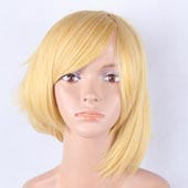 Yellow Short Straight Anime Cosplay Wig Full Wig