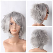Silver Short Straight Anime Cosplay Wig