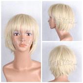 米色短发 直发高温丝 动漫假发