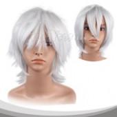 银灰色短发假发