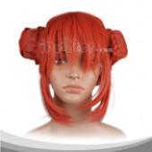 红色花苞头中直假发