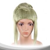 淡绿长鬓发假发